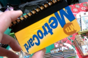 Metro Card Address Book Cover