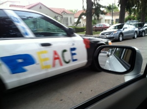 A Peace car, not a pa-lease car.