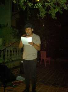 Dylan Doren reading at a WOMEN group gathering in Hollywood, CA - 2012